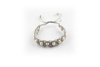 Bracelet Set 4 bracelets macrame and cultured pearls