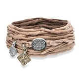 BRACELET BROWN SILK CRYSTAL OF ROCK BRONZE SILVER SK10T18 SILVER OF PALO Plata de palo
