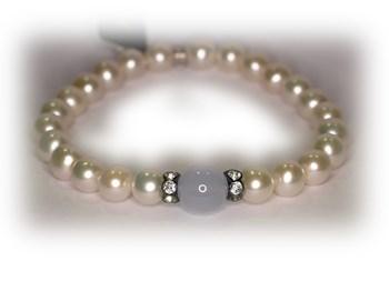 Pulsera MIMI perlas y calcedonia 0023