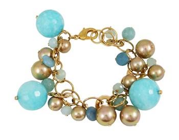 BRACELET FEMALE DEVOTA AND LOMBA PDL193826-BLUE / GOLD 8435334800484 DEVOTA & LOMBA