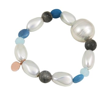 BRACELET FEMALE DEVOTA AND LOMBA PDL193877-WHITE / GREY / BLUE 8435334800477 DEVOTA & LOMBA