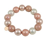 BRACELET DEVOUT WOMAN AND LOMBA PDL195130-PINK/WHITE 8435334800453 DEVOTA & LOMBA