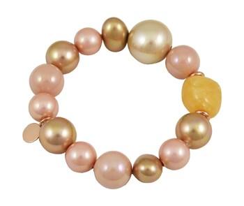 BRACELET DEVOUT WOMAN AND LOMBA PDL195132-PINK/GOLD 8435334800460 DEVOTA & LOMBA
