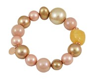 BRACELET DEVOUT WOMAN AND LOMBA PDL195132-PINK/GOLD 8435334800460 DEVOTA & LOMBA