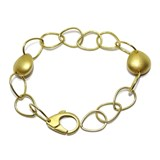 STUNNING AND BOLD BRACELET 18K YELLOW GOLD WITH 2 GOLD NUGGETS NEVER SAY NEVER