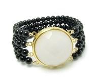Bracelet Onyx and jade
