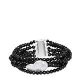 Pulsera ónix y perla barroca XL 18-132846