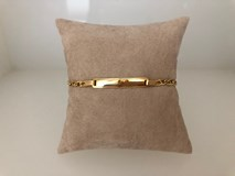 BRACELET GOLD 18 CARATS OF GIRL AND BOY WITH PLATE TO RECORD 82501