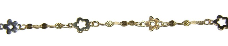BRACELET OF GOLD OF 750 MM FOR BABY. NEVER SAY NEVER