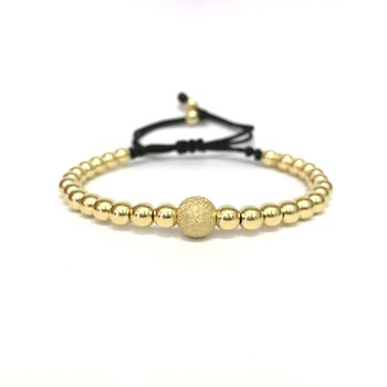 BRACELET BOULE D\'OR JAUNE DIAMANT CENTRAL B4443JY990