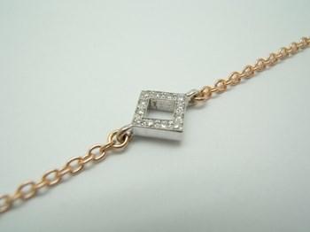 TWO-TONE GOLD WITH DIAMONDS BRACELET B-79 H-101
