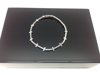 BRACELET BLANC OR ET DIAMANTS