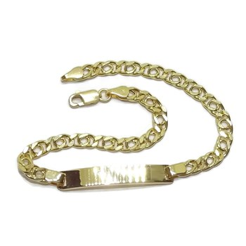 BRACELET FOR NI�OR 18K YELLOW GOLD PLATE 100% CUSTOMIZABLE, NEVER SAY NEVER