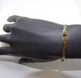 BRACELET FOR COMMUNION YELLOW GOLD 18KTES AND CULTURED PEARLS OF 4 MM) NEVER SAY NEVER