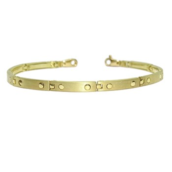 BRACELET FOR MAN ANAT�MICA, OF 18K YELLOW GOLD ARTICULATED LINK, AND LINED. NEVER SAY NEVER