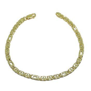 BRACELET FOR MAN IN YELLOW GOLD OF 18K MODEL TIGER\'S EYE COMBINED 21.00 CM NEVER SAY NEVER