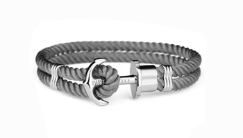 BRACELET PAUL HEWITT ANCHOR GREY 11227