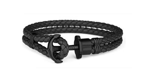 BRACELET PAUL HEWITT ANCHOR BLACK 11230