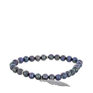 BRACELET PEARL GROWN GRAY AND SILVER LAW PEN