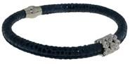 Peau de bracelet bleu avec des pierres BRB47-2 LUCA LORENZINI