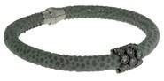 Peau de bracelet gris avec des pierres BRB47-5 LUCA LORENZINI
