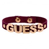 BRACELET LEATHER GUESS PINK UBB81312