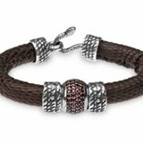 BRACELET LEATHER LIZARD KOK5T19 Plata de palo