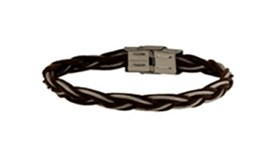 BRACELET LEATHER AND STEEL SKULL RIDER 8434330037719