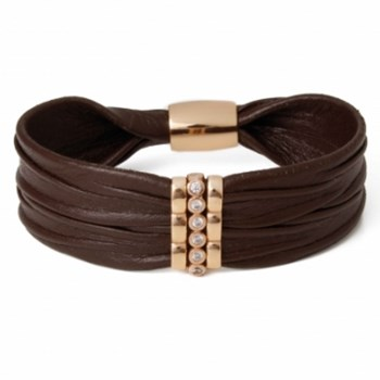 BRACELET LEATHER AND SILVER PU150BRB1763 LUCA LORENZINI
