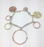 BRACELET SILVER PLATED IN PINK GOLD AND YELLOW EXB1264