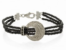 BRACELET SILVER WITH ANTHRACITE AND ZIRCONITAS 9120UT Marina Garcia