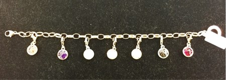 BRACELET SILVER WITH GOLD PLATED ROSE AND HANGING X0031 THOMAS SABO