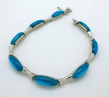 BRACELET STERLING SILVER WITH BLUE STONES LUXENTER B63017000