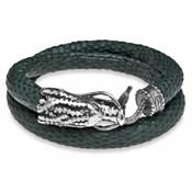 Bracelet Silver Stick peau verte et plata140 ADB1A T/20 Plata de palo