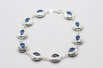 « Mauvais œil » bracelet en argent sterling.