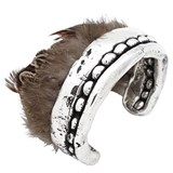 PURE SILVER WITH NATURAL FEATHERS PPB418 BRACELET Plata Pura