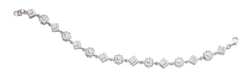 BRACELET SILVER RHODIUM-PLATED WITH CUBIC ZIRCONIA - OWN - JL4026
