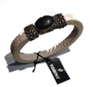 Bracelet in leather and silver L16BT/19 Platadepalo Plata de palo