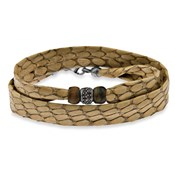 BRACELET PULS LEATHER SILVER STONES AND EYE TIGER ASB7T19 Plata de palo ASB7 T/19
