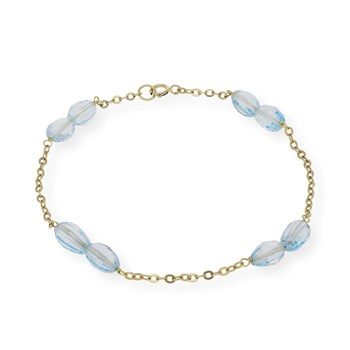 BRACELET MADE IN YELLOW GOLD, 750 THOUSAND�SIMAS 18 K WITH 8 BLUE TOPAZ FACETED 1501/0270-ABT