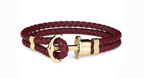 RED BRACELET PAUL HEWITT ANCHOR GOLDEN 11235