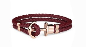BRACELET ROUGE DE PAUL HEWITT ANCRE ROSE 11239