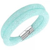 BRACELET SWAROVSKI OF TWO LAPS IN THE TURQUOISE 5120149