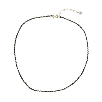 Pulsera tres vueltas plata charm perla negra