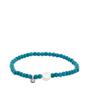 Pulsera turquesa perla cultivada y plata ley