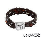 BRACELET ONE OF 50 LEATHER MAN PUL1429ROJMAR0L Uno de 50