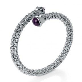 Viceroy plated rhodium bracelet