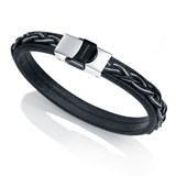 BRACELET VICEROY MENS LEATHER AND STEEL 6400P09010