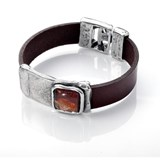 Bracelet de peau et murano viceroy 1008P09011