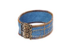 BRACELET DE COW-GIRL TEXANE TEINTES BLEUES WEST005 LA BRUIXETA
